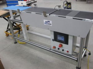 Belt Conveyors from Robotunits used to build Checkweighers